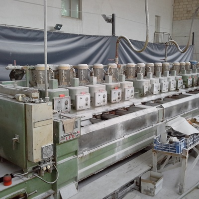 Polishing machine with 15 heads for granite
